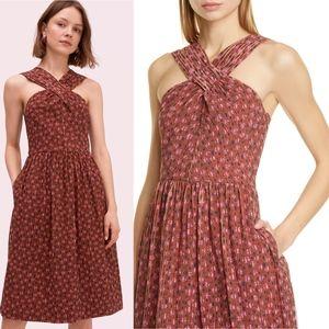 NWOT Kate Spade New York Floradoodle Halter Dress